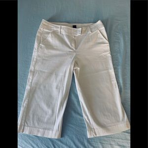 LARRY LEVINE Stretch Capri pants-white-size12